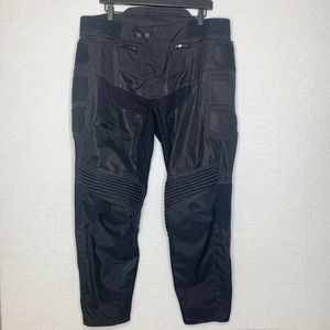 First Gear Padded Adult Motorcycle Pants Black